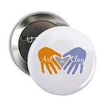 "Art in Clay / Heart / Hands 2.25"" Button"