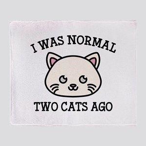 I Was Normal Two Cats Ago Stadium Blanket