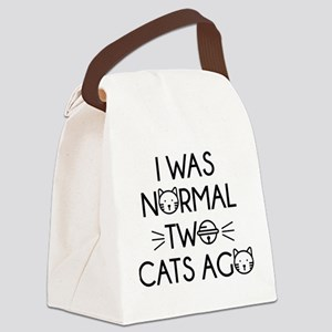 I Was Normal Two Cats Ago Canvas Lunch Bag