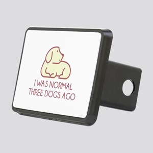 I Was Normal Three Dogs Ago Rectangular Hitch Cove