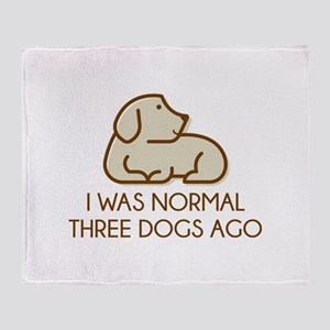 I Was Normal Three Dogs Ago Stadium Blanket