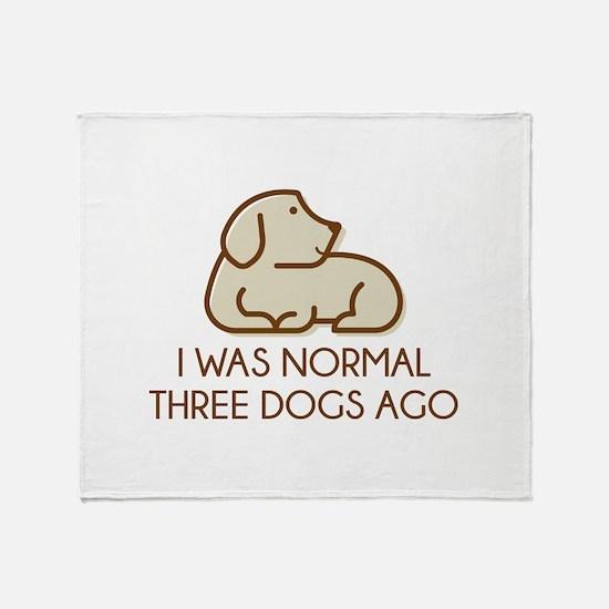 I Was Normal Three Dogs Ago Stadium Blanket