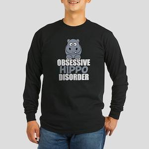 Funny Hippo Long Sleeve Dark T-Shirt