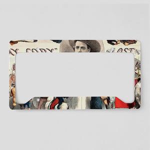 Vintage Western Buffalo Bill License Plate Holder