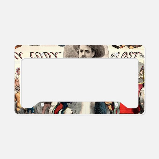 Vintage Western Buffalo Bill License Plate Holder