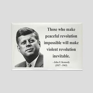 John F. Kennedy 16 Rectangle Magnet