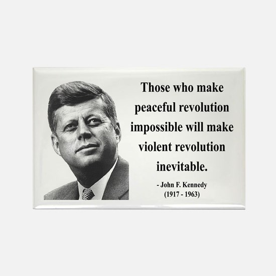 John F. Kennedy 16 Rectangle Magnet