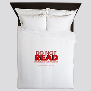 Do no read the next sentence Queen Duvet