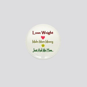 Lines Lose Weight Mini Button
