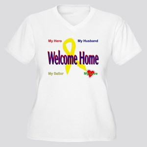 Welcome home- wife Women's Plus Size V-Neck T-Shir
