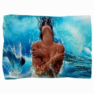 Sexy Mermaid In Water Pillow Sham