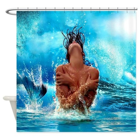 Sexy Mermaid In Water Shower Curtain By WickedDesigns4