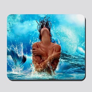 Sexy Mermaid In Water Mousepad