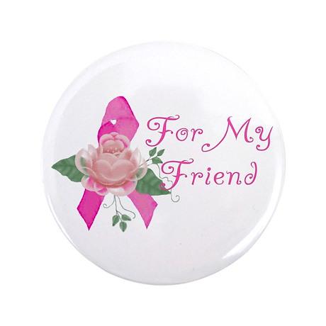 "Breast Cancer Support Friend 3.5"" Button by ursinelogic"