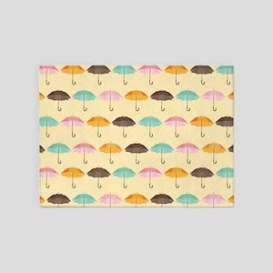 Umbrella Pattern 5'x7'Area Rug