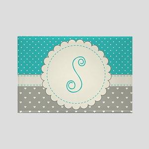 Cute Monogram Letter S Magnets