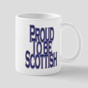 Proud to be Scottish blue tartan Mugs