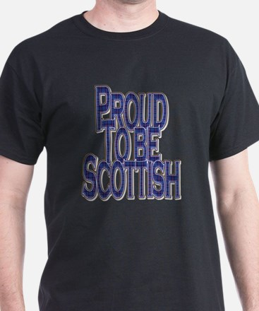 Proud To Be Scottish Blue Tartan T-Shirt