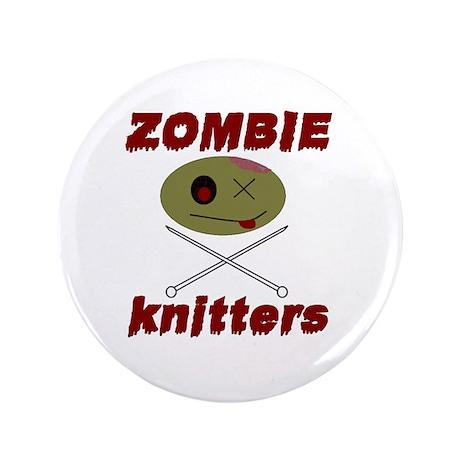 "zombie knitter 3.5"" Button"