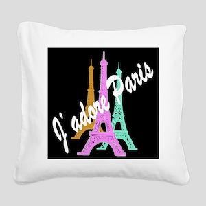 PARIS AMORE Square Canvas Pillow