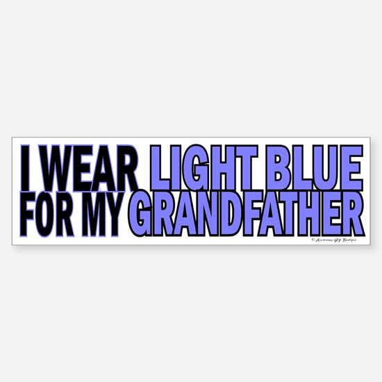 I Wear Light Blue For My Grandfather 5 Bumper Bumper Sticker