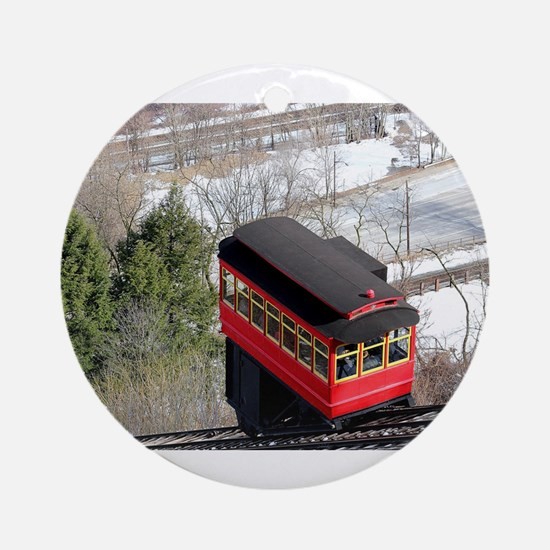 Pittsburgh Incline Round Ornament