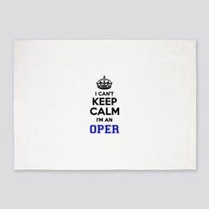 Oper I cant keeep calm 5'x7'Area Rug