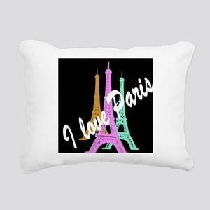 PARIS AMORE Rectangular Canvas Pillow