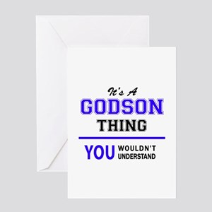 Its GODSON Thing You Wouldnt Und Greeting Cards