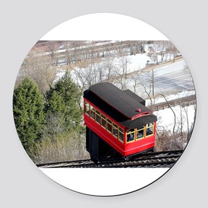 Pittsburgh Incline Round Car Magnet