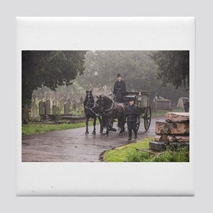 FUNERAL IN THE RAIN Tile Coaster