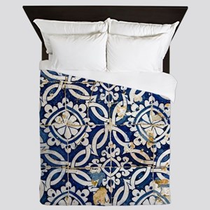 Portuguese glazed tiles Queen Duvet