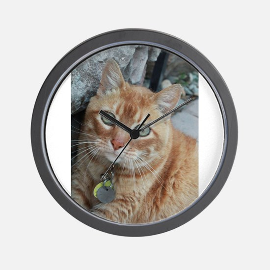 orange kitty Simba Wall Clock