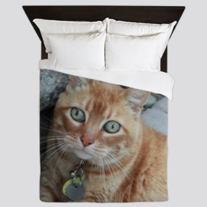 orange kitty Simba Queen Duvet