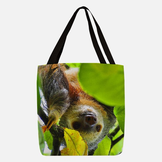 Sloth_20171109_by_JAMColors Polyester Tote Bag