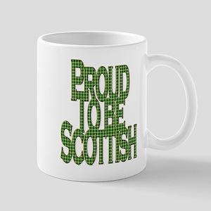 Proud to be Scottish green tartan Mugs