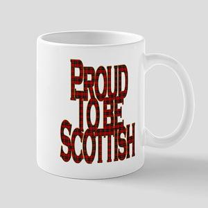 Proud to be Scottish red tartan Mugs