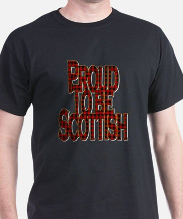 Proud To Be Scottish Red Tartan T-Shirt