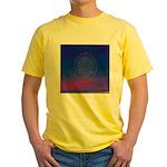 64.flowerolife plus.. Yellow T-Shirt