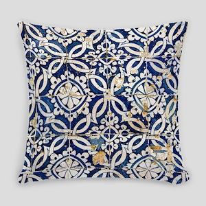 Portuguese glazed tiles Everyday Pillow