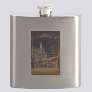 Chicago Riverwalk Flask