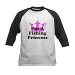 Fishing Princess Kids Baseball Jersey