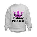 Fishing Princess Kids Sweatshirt