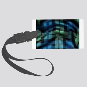 Ancient Campbell Tartan Large Luggage Tag