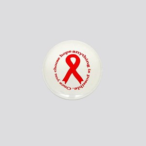 Red Hope Mini Button
