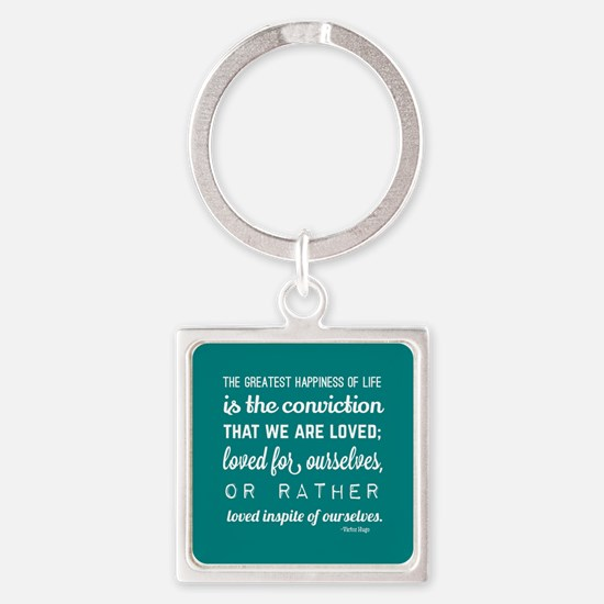 Love Quotes and Sayings for Her Square Keychain