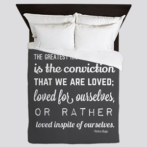 Sweet Love Quotes for Her Queen Duvet