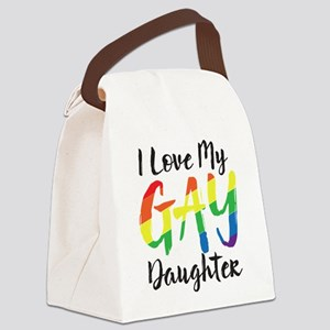 I Love My Gay Daughter Canvas Lunch Bag