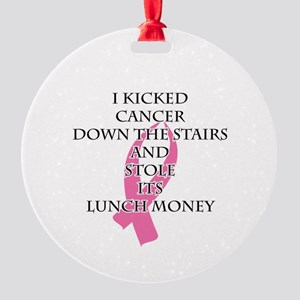 Breast Cancer Bully Ornament