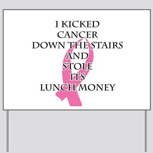 Breast Cancer Bully Yard Sign